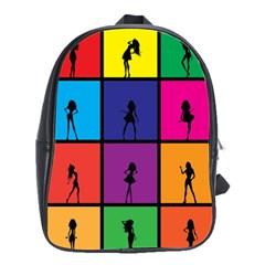 Girls Fashion Fashion Girl Young School Bags(large)  by Nexatart