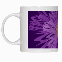 Purple Flower Floral Purple Flowers White Mugs