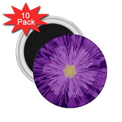 Purple Flower Floral Purple Flowers 2 25  Magnets (10 Pack)  by Nexatart