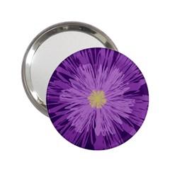 Purple Flower Floral Purple Flowers 2.25  Handbag Mirrors