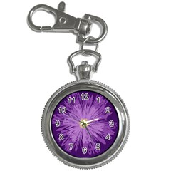 Purple Flower Floral Purple Flowers Key Chain Watches