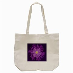 Purple Flower Floral Purple Flowers Tote Bag (cream) by Nexatart