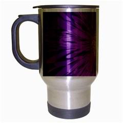 Purple Flower Floral Purple Flowers Travel Mug (silver Gray) by Nexatart