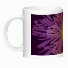 Purple Flower Floral Purple Flowers Night Luminous Mugs by Nexatart