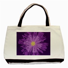 Purple Flower Floral Purple Flowers Basic Tote Bag