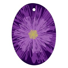 Purple Flower Floral Purple Flowers Oval Ornament (two Sides) by Nexatart