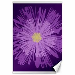 Purple Flower Floral Purple Flowers Canvas 12  x 18