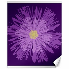 Purple Flower Floral Purple Flowers Canvas 16  X 20