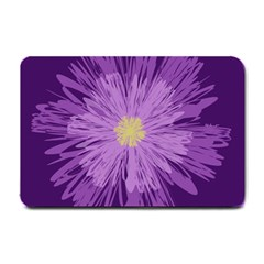Purple Flower Floral Purple Flowers Small Doormat