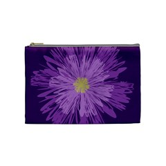 Purple Flower Floral Purple Flowers Cosmetic Bag (medium)  by Nexatart
