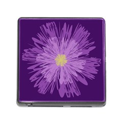 Purple Flower Floral Purple Flowers Memory Card Reader (square) by Nexatart