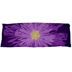 Purple Flower Floral Purple Flowers Body Pillow Case Dakimakura (two Sides) by Nexatart