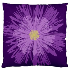 Purple Flower Floral Purple Flowers Large Cushion Case (two Sides) by Nexatart