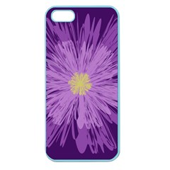 Purple Flower Floral Purple Flowers Apple Seamless Iphone 5 Case (color) by Nexatart