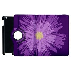 Purple Flower Floral Purple Flowers Apple Ipad 3/4 Flip 360 Case by Nexatart