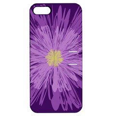 Purple Flower Floral Purple Flowers Apple Iphone 5 Hardshell Case With Stand by Nexatart
