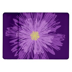 Purple Flower Floral Purple Flowers Samsung Galaxy Tab 10 1  P7500 Flip Case by Nexatart