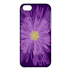 Purple Flower Floral Purple Flowers Apple Iphone 5c Hardshell Case by Nexatart
