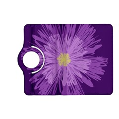 Purple Flower Floral Purple Flowers Kindle Fire Hd (2013) Flip 360 Case by Nexatart