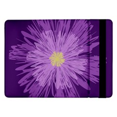 Purple Flower Floral Purple Flowers Samsung Galaxy Tab Pro 12 2  Flip Case by Nexatart