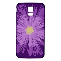 Purple Flower Floral Purple Flowers Samsung Galaxy S5 Back Case (white)