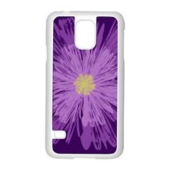 Purple Flower Floral Purple Flowers Samsung Galaxy S5 Case (white) by Nexatart