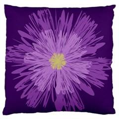 Purple Flower Floral Purple Flowers Standard Flano Cushion Case (two Sides)