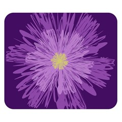 Purple Flower Floral Purple Flowers Double Sided Flano Blanket (small)  by Nexatart