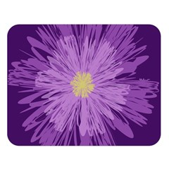 Purple Flower Floral Purple Flowers Double Sided Flano Blanket (large)  by Nexatart
