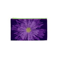 Purple Flower Floral Purple Flowers Cosmetic Bag (xs) by Nexatart