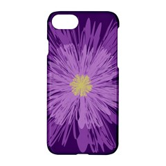 Purple Flower Floral Purple Flowers Apple Iphone 7 Hardshell Case by Nexatart