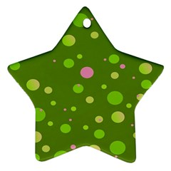 Decorative Dots Pattern Ornament (star) by ValentinaDesign