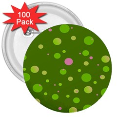 Decorative Dots Pattern 3  Buttons (100 Pack)  by ValentinaDesign