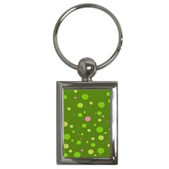 Decorative Dots Pattern Key Chains (rectangle)  by ValentinaDesign