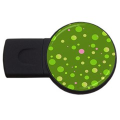 Decorative Dots Pattern Usb Flash Drive Round (4 Gb) by ValentinaDesign