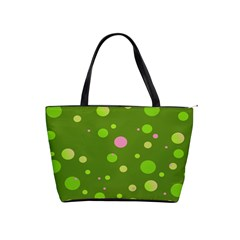 Decorative Dots Pattern Shoulder Handbags by ValentinaDesign