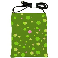 Decorative Dots Pattern Shoulder Sling Bags by ValentinaDesign