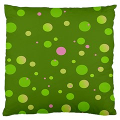 Decorative Dots Pattern Large Cushion Case (one Side) by ValentinaDesign