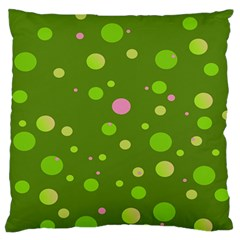 Decorative Dots Pattern Standard Flano Cushion Case (one Side) by ValentinaDesign