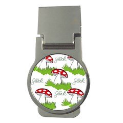 Mushroom Luck Fly Agaric Lucky Guy Money Clips (round)