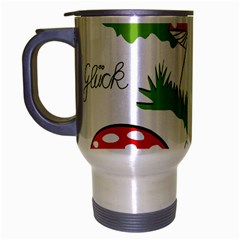 Mushroom Luck Fly Agaric Lucky Guy Travel Mug (silver Gray) by Nexatart