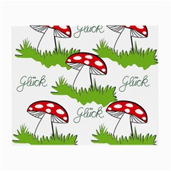 Mushroom Luck Fly Agaric Lucky Guy Small Glasses Cloth by Nexatart