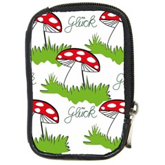 Mushroom Luck Fly Agaric Lucky Guy Compact Camera Cases by Nexatart