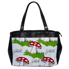 Mushroom Luck Fly Agaric Lucky Guy Office Handbags by Nexatart