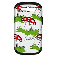 Mushroom Luck Fly Agaric Lucky Guy Samsung Galaxy S Iii Hardshell Case (pc+silicone)