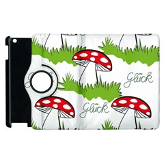 Mushroom Luck Fly Agaric Lucky Guy Apple Ipad 2 Flip 360 Case