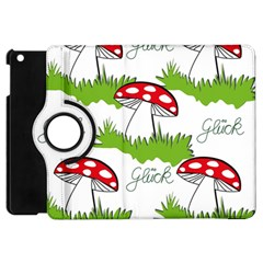 Mushroom Luck Fly Agaric Lucky Guy Apple Ipad Mini Flip 360 Case by Nexatart