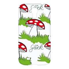 Mushroom Luck Fly Agaric Lucky Guy Samsung Galaxy S4 I9500/i9505 Hardshell Case by Nexatart