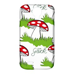 Mushroom Luck Fly Agaric Lucky Guy Samsung Galaxy S4 Classic Hardshell Case (pc+silicone)