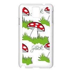 Mushroom Luck Fly Agaric Lucky Guy Samsung Galaxy Note 3 N9005 Case (white) by Nexatart